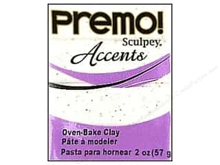 Premo Accents: Premo Polymer Clay 2oz White Granite