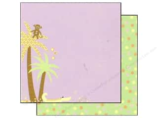 Scribbles inches: Best Creation 12 x 12 in Paper Safari Girl Collection Jungle Love Left (25 sheets)
