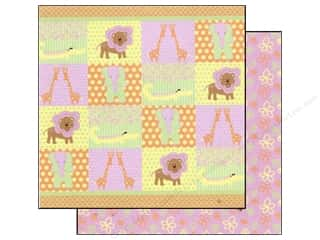 Patches Borders: Best Creation 12 x 12 in. Paper Safari Girl Collection Animal Patch (25 sheets)
