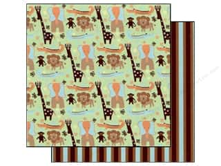 Best Creation Paper 12x12 Safari Boy JungleFriends (25 sheets)