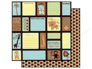 Best Creation 12 x 12 in. Paper Safari Boy Journal Fun (25 sheets)