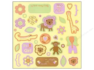 Chipboard Shapes  Flowers: Best Creation Expression Chipboard Safari Girl