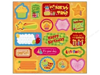 2013 Crafties - Best Adhesive: Best Creation Expression Chipboard 18 pc. Let's Party