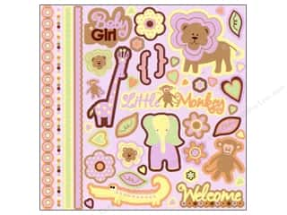 stickers  -3D -cardstock -fabric: Best Creation Sticker Glitter Element Safari Girl