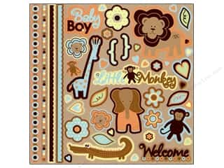 Best Creation Sticker Glitter Element Safari Boy