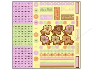 Border Stickers / Corner Stickers: Best Creation Glitter Combo Stickers 350 pc. Safari Girl