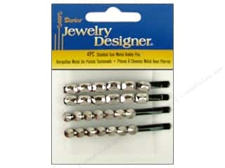 Darice Bobby Pins Studded Gun Metal Assorted 4pc