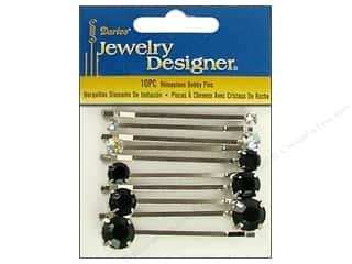bobby pin: Darice Bobby Pins Rhinestones Assorted 10pc