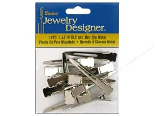 "Charms Hair Accessory Making: Darice Hair Accents Clip 1.25"" Nickel 12pc"