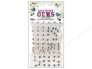 flat back rhinestone: Darice Self Stick Gems 5mm Clear