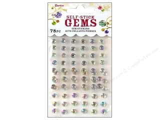 Darice Darice Stick On Rhinestones: Self-Adhesive Rhinestones by Darice 5mm Round Crystal 78 pc.