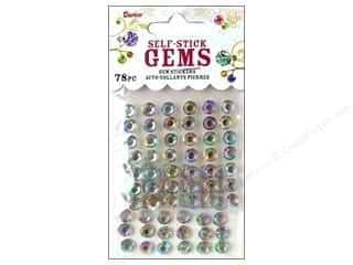 Darice Darice Stick On Rhinestones: Self-Adhesive Rhinestones by Darice 7mm Round Crystal Aurora Borealis 78 pc.