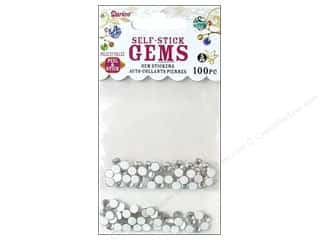 flat back rhinestone: Darice Self Stick Gems 5mm Clear 100pc