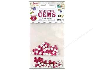 Darice Self Stick Gems 5mm Hot Pink 100pc