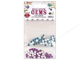 Darice Self Stick Gems 5mm Light Blue/Lavender 100pc