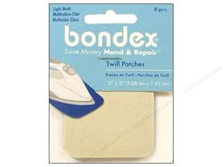 Bondex Iron On Patch 2&quot;x 3&quot; Light Assortment 8pc