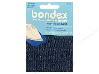 "Bondex Iron On Patch 10""x 12"" Blue Denim"