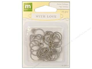 Sequins Making Memories Embellishments: Making Memories Charms With Love Wedding Rings Silver