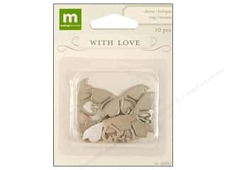 Making Memories Charms WL Wedding Swans Silver