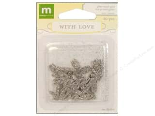 Metal Making Memories Charms: Making Memories Metal With Love Wedding Glitter Word Love 10pc