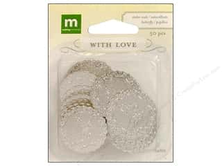Making Memories WL Wedding Seal Butterflies Silver