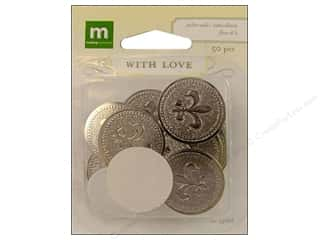 Making Memories WL Wedding Seal Fleur De Li Silver