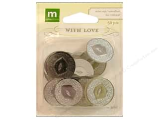 theme stickers  wedding: Making Memories Stickers With Love Wedding Seal Round Kiss Silver