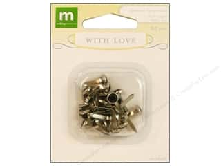 Making Memories Brads With Love Wedding Gem Silver/Black 25pc