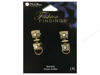 Clearance Blumenthal Favorite Findings: Blue Moon Bails FF Metal Star Ox Brass