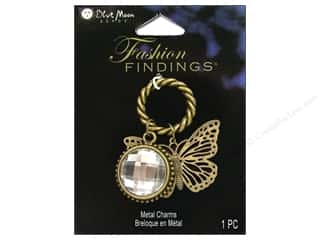 Blue Moon Charm FF Metal Ring Butterfly Ox Brass