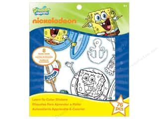 Nickelodeon Nickelodeon Sticker: Nickelodeon Sticker Learn-To-Color SpongeBob