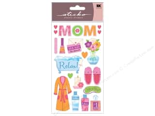 Mother's Day Papers: EK Sticko Stickers I Love You Mom
