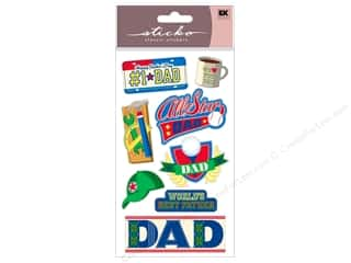 Father's Day Kid Crafts: EK Sticko Stickers I Love You Dad