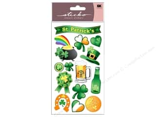 St. Patrick's Day Blue: EK Sticko Stickers St Patrick's Day