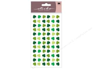 St. Patrick's Day Papers: EK Sticko Stickers Four Leaf Clover Repeats