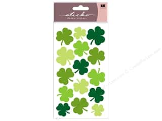 stickers  -3D -cardstock -fabric: EK Sticko Stickers Large Shamrocks