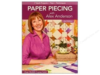 Sewing Construction C & T Publishing: C&T Publishing Paper Piecing With Alex Anderson Book - 2nd Edition by Alex Anderson