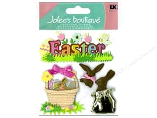 Black: Jolee's Boutique Stickers Easter Chocolate Bunnies