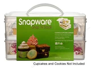 Baking Supplies Home Decor: Snapware Snap 'N Stack Cookie & Cupcake Carrier