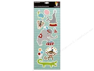 Animals: Imaginisce Stickers Animal Crackers Canvas Animal Parade