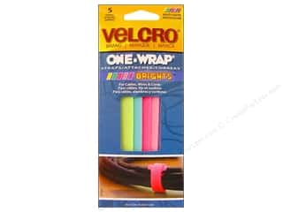 VELCRO brand One Wrap Strap .5&quot;x 8&quot; Bright 5pc