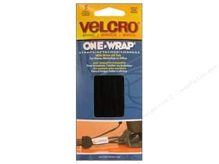 Velcro / Hook & Loop Tape Velcro Straps / Hook & Loop Tape Straps: Velcro One Wrap Strap 1/2 x 8 in. Black 5pc