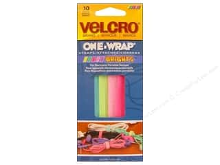 Velcro / Hook & Loop Tape Velcro Straps / Hook & Loop Tape Straps: Velcro One Wrap Strap 5 x 1/4 in. Bright 10pc.