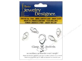 clasps: Darice Jewelry Designer Clasps Lobster 14mm Swivel Silver 4pc