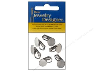 Darice JD Earring Ear Clip 10mm Pad Silver Plate