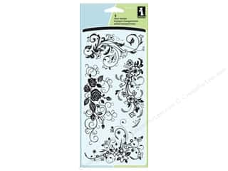 Sizzling Summer Sale Inkadinkado: Inkadinkado InkadinkaClings Clear Stamp Flower Flourishes