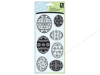Inkadinkado InkadinkaClings Clear Stamp Patterned Eggs