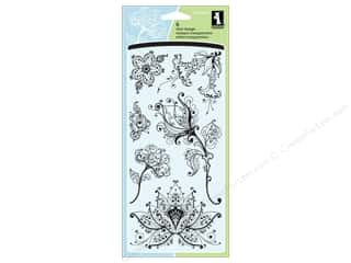 Inkadinkado Clear Stamp Artistic Flower Creation