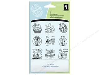 stamp block: Inkadinkado Clear Stamp Inchies Easter