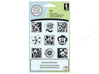 Inkadinkado Clear Stamp Inchies Spring Flowers